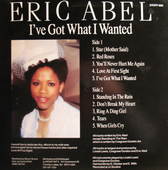 Eric Abel - I've Got What I Wanted back cover